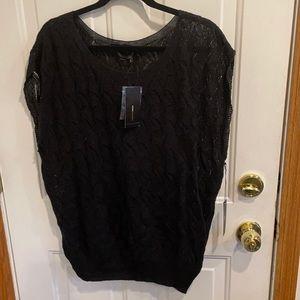 BGBCMaxazria Black Pullover Sweater Vest Large